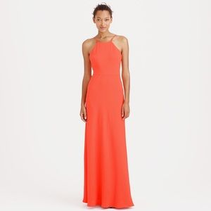 J.Crew Carly Long Gown in Sweet Persimmon